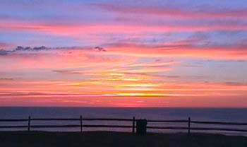 Sunrise at WhiteCrest Beach, Wellfleet (courtesy Wellfleet Beachcomber)